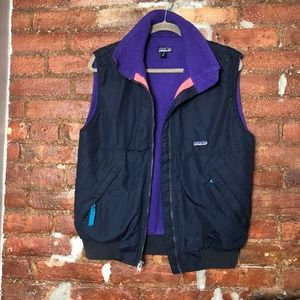 Vintage Patagonia Fleece Purple/Navy Vest S